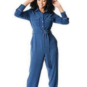 Zapelle Blue Jumpsuit w/ Belt